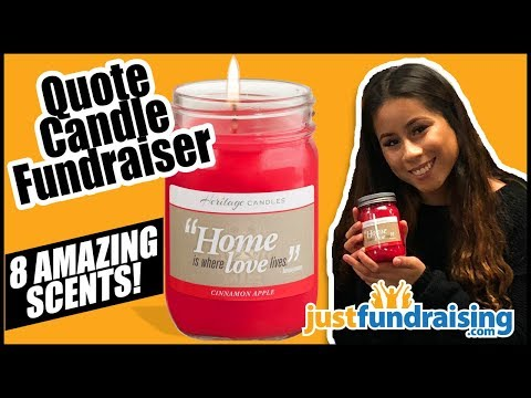 Best Candle Fundraiser - Includes Inspirational Quotes - Earn 50% Profit!