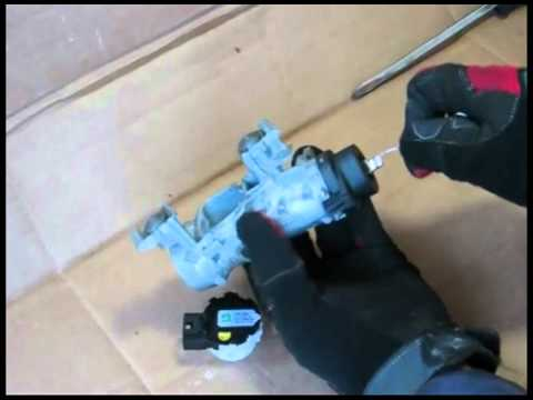 Volkswagen ignition switch repair and diasssembly - YouTube
