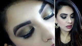 Silver Glitter Eyeliner Makeup Tutorial sidra khan