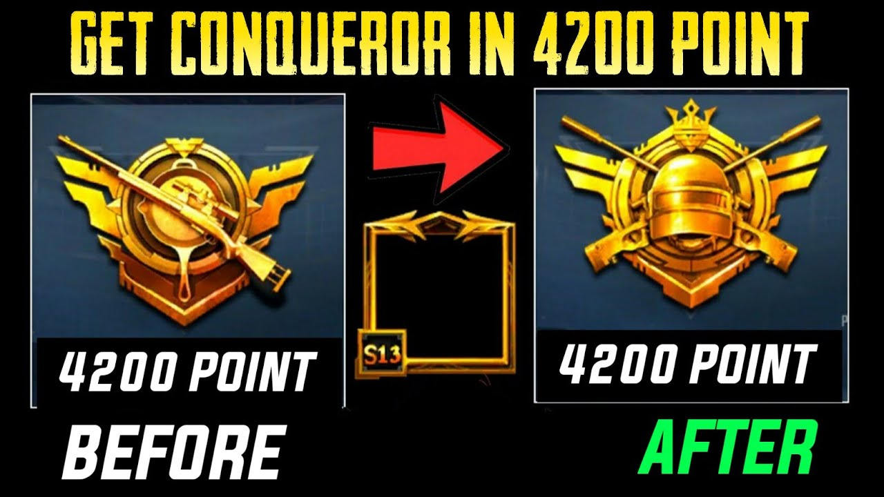 How To Get Conqueror In Pubgm || 4200 Point To Get Conqueror || Pubg Mobile ||