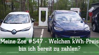 Meine Zoe #547 - Welchen kWh Preis bin ich bereit zu zahlen?