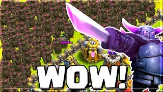 ALL P.E.K.K.A ATTACK - STRONGEST TROOP IN Clash of Clans!? INSANE LOOT RAIDS!!!