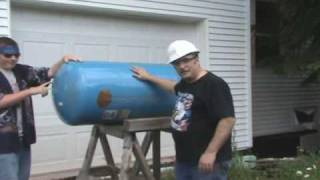 Making An Outdoor Wood Furnace With Bob - Part 1