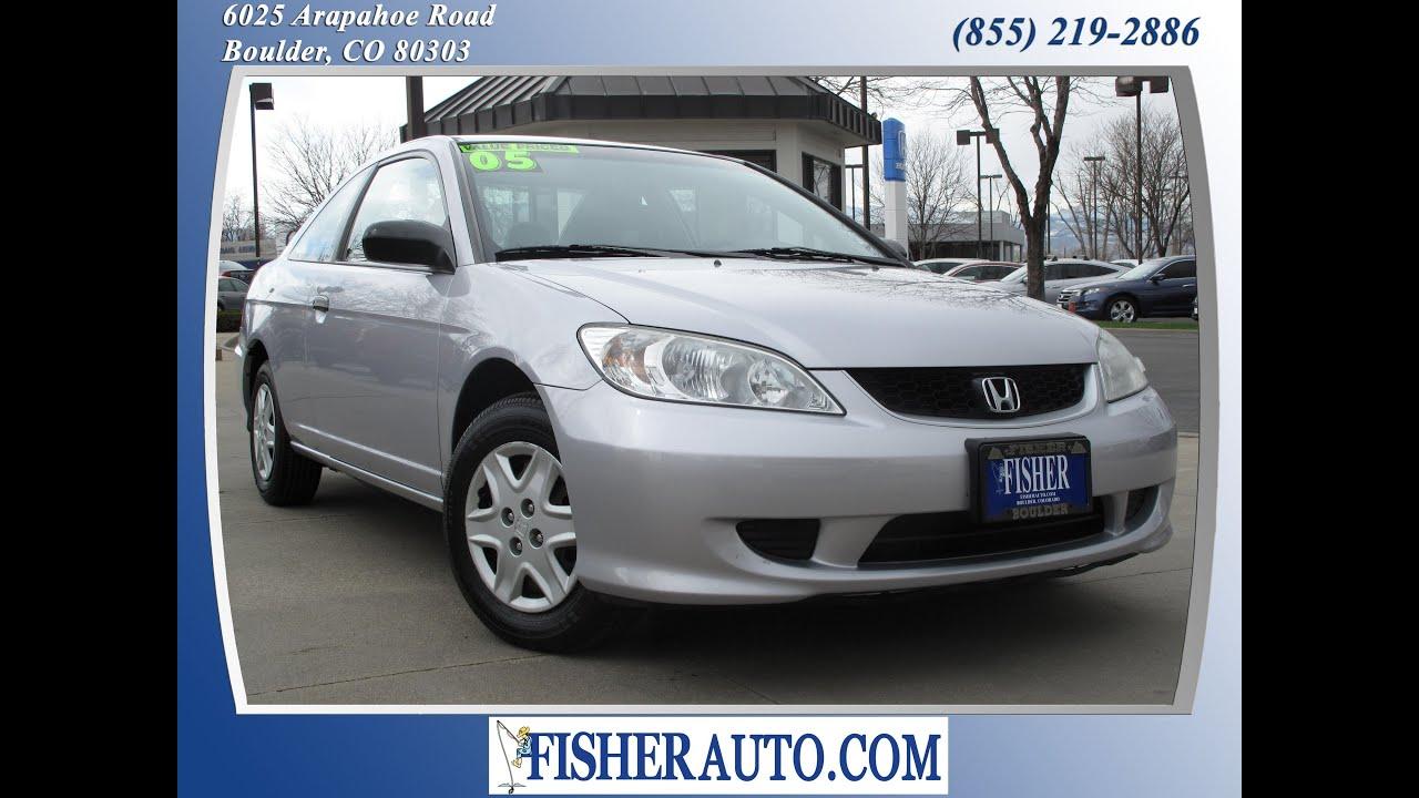2005 Honda Civic VP Silver | $10,900* | Boulder, Colorado | Fisher Auto  (Stock #P6754)