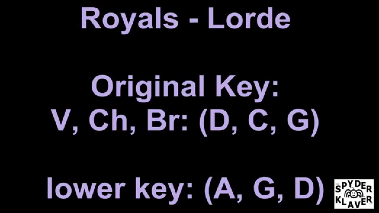 Royals Lorde Lyrics Chords Youtube