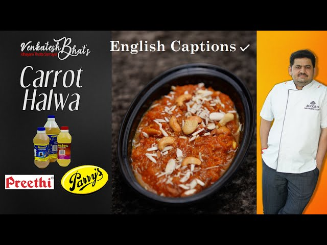 Venkatesh Bhat makes Carrot Halwa   Recipe in Tamil   CARROT HALWA   Desserts   Indian Sweet recipes