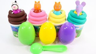 Orbeez and Learn Colors Play Doh Surprise Eggs Elephant Cat Emily Winnie the Pooh Toys
