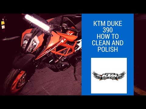 KTM Duke 390 How to clean and polish || 3M Car Care || Without a Pressure Washer ||