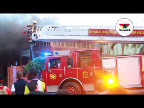 Fire destroys Ndoum's GN Bank, two TV stations and parts of hotel