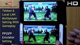 Tekken 6 local (wifi ) multiplayer settings for PPSSPP Emulator | with Gameplay