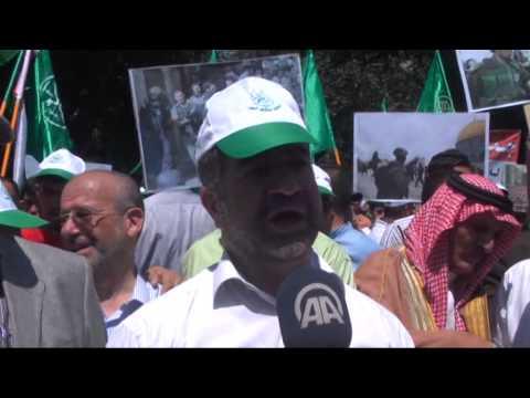 Anti Israeli government protest in Jordan