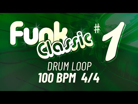 Funk Classic #1 - 100 BPM 4/4 - Drum Beat - Drum Loop - Backing Track - 20 minutes