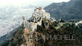 Sacra di San Michele Cathedral in Piemonte, Italy. This monument is...