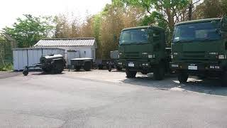 航空自衛隊奈良基地祭にてトレーラー、1tタンクトレーラ、野外炊具1号?