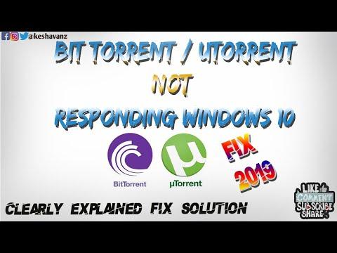 Bittorrent / Utorrent Not Responding (already Running) In Windows - FIX  2019