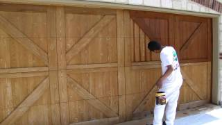Garage Door Staining, | Dallas Ft. Worth | Restoration, Fences, Decks, Pergola, Arbors, Gazebos