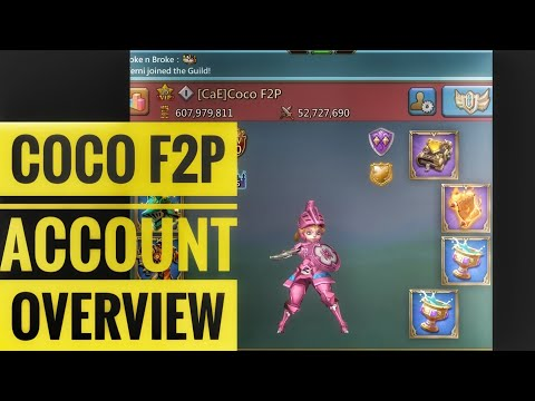 Coco F2P Lords Mobile F2P Account Overview