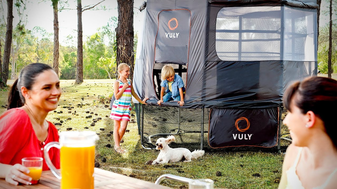 sc 1 st  YouTube & The Vuly Deluxe Trampoline Tent u0026 Skirt - YouTube