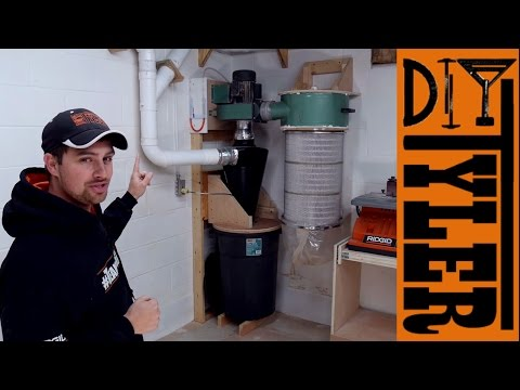 2 Stage Harbor Freight Dust Collector Hack - DIYTyler