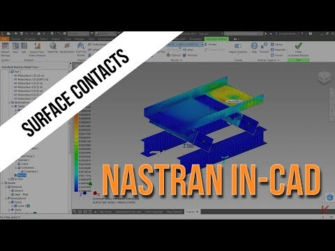 Surface Contacts in Nastran In-CAD | Autodesk Virtual Academy