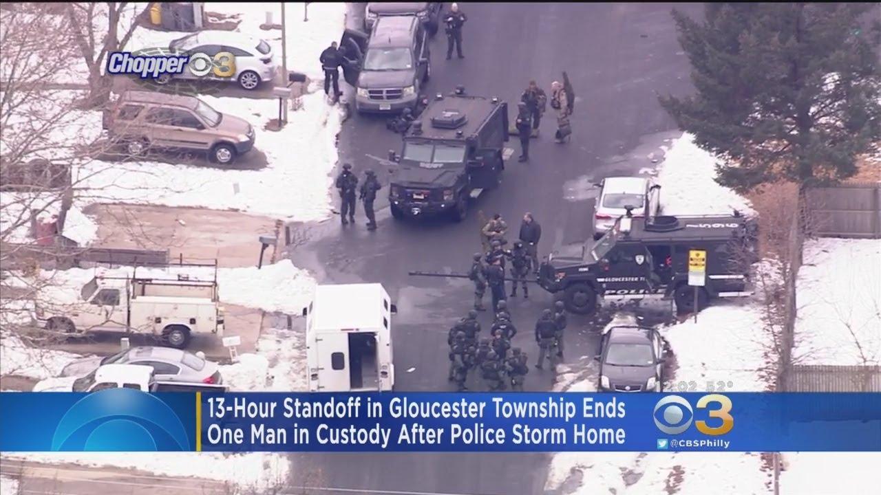 Man In Custody Following Police Standoff In Gloucester Township
