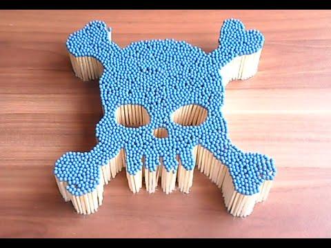 Match Chain Reaction - Burning Skull Amazing Fire Domino Pyro