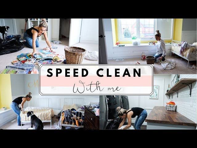 Speed Clean My Twins' Room With Me | Cleaning Motivation