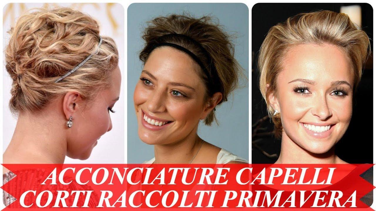 Eccezionale Acconciature capelli corti raccolti primavera 2018 - YouTube KM07