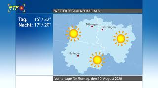 RTF.1-Wetter 09.08.2020