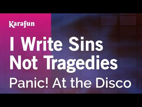 Karaoke I Write Sins Not Tragedies - Panic! At the Disco *