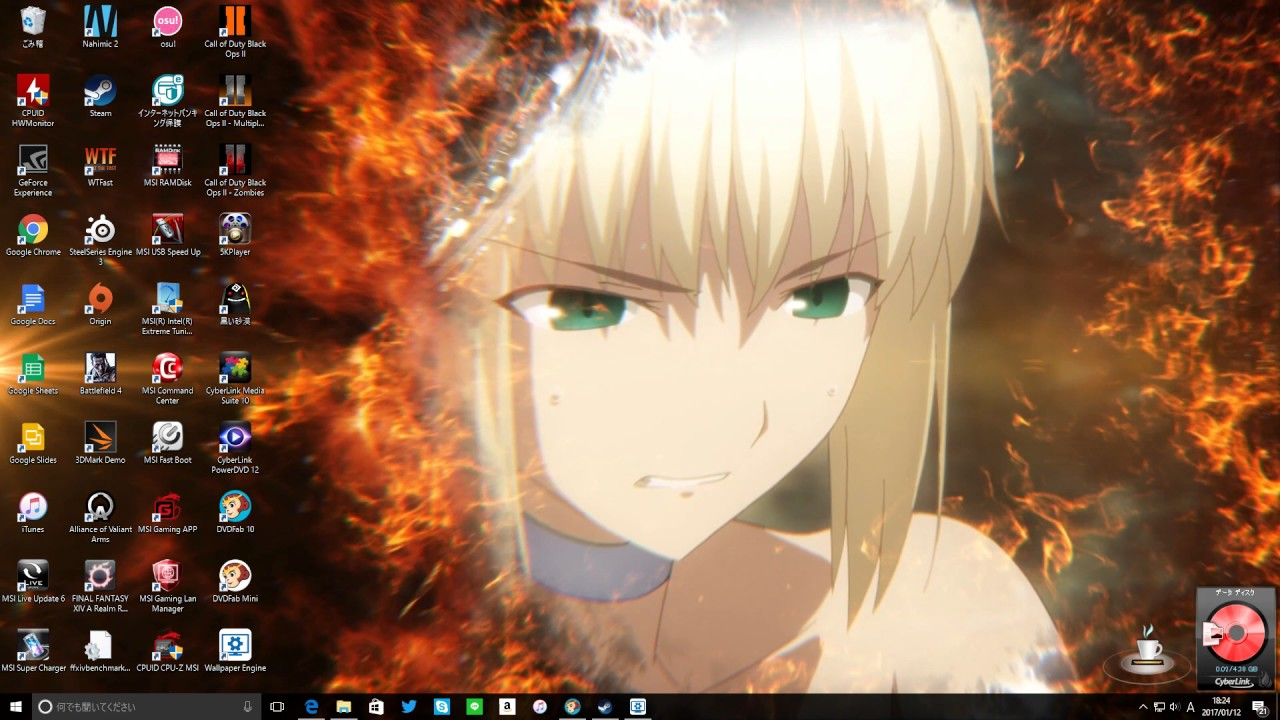 Wallpaper Engine 使ってみた その参 Fate Staynight Ubw Youtube