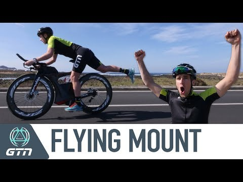 How To Do A Flying Mount | Can Heather Learn From A Pro Triathlete?