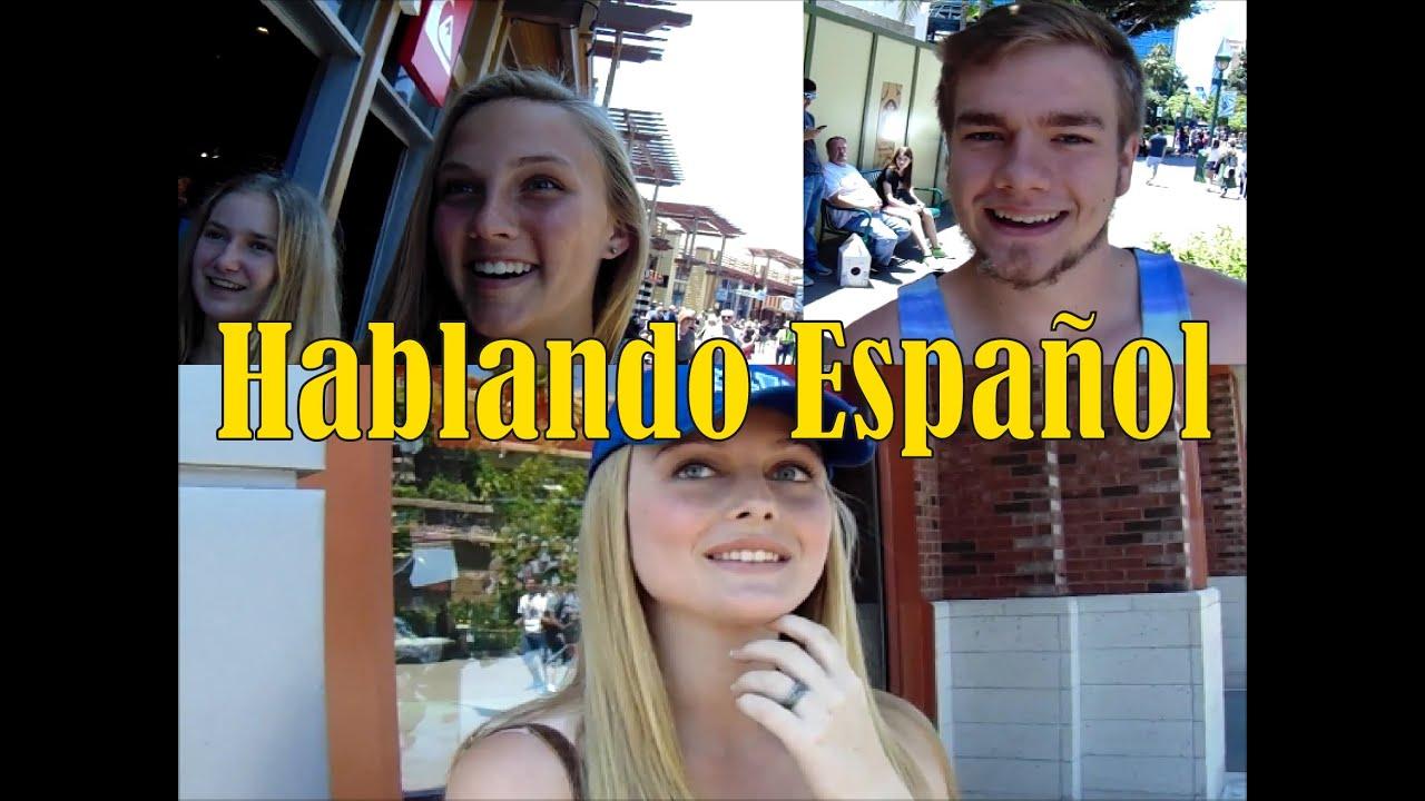 Actores Estadounidenses Hablando Español gringos hablando español | disneyland