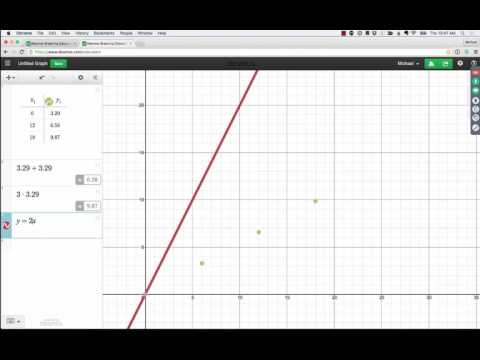 how to draw a line on desmos