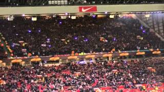 7000 fans AJAX sing for MAN UTD fans - BOB MARLEY Every little thing will gonna be alright