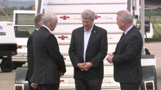 G8 Summit: Canadian Prime Minister Stephen Harper arrives