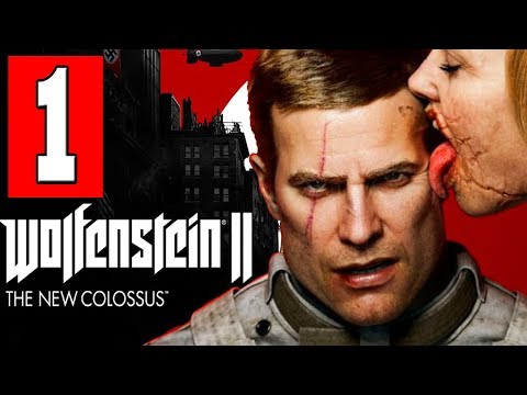 WOLFENSTEIN 2 The New Colossus Gameplay Walkthrough Part 1 (FULL GAME) Lets Play Playthrough