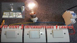 Фото Va Et Vient 3 Interrupteurs 💡 طريقة تشغيل مصباح من ثلاثة اماكن