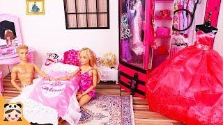 Barbie & Ken Bedroom Morning Routine Doll House غرفة نوم باربي Beliche para Quarto 미미 인형놀이 드라마 보라미TV