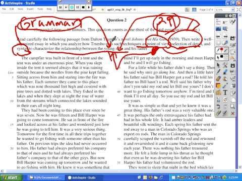 Ap english literature essay
