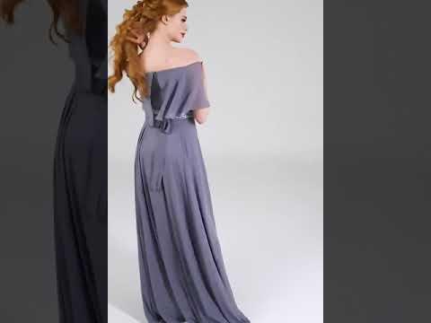 47 74 Вечернее платье в пол из шифона