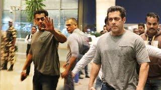 Race 3 Shooting के लिए Salman Khan BANGKOK के लिए रवाना, देखिये Airport Video