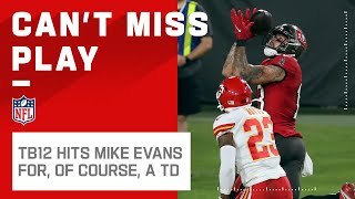 On 4th & 3, tb12 hits mike evans the flat route and, unsurprisingly, he takes it in for touchdown. kansas city chiefs take tampa bay buccan...