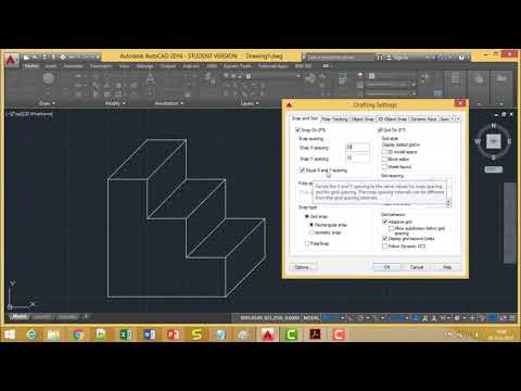 AutoCAD - Grid and snap