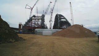 Арки Керченского моста. Июнь 17го. Короткое видео.