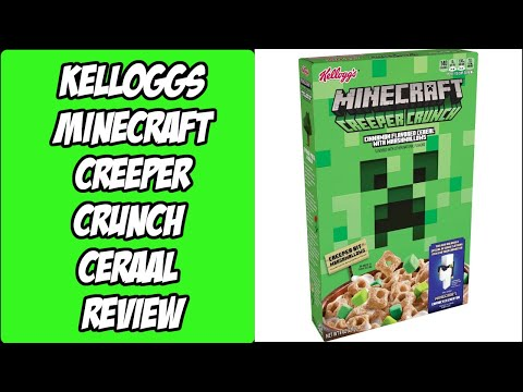 Kelloggs Minecraft Creeper Crunch Cereal Review and Special Code Giveaway