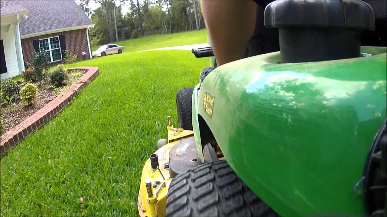 My John Deere >> John Deere X324 Demonstration 4 wheel steering 4WS 2010 Model - YouTube