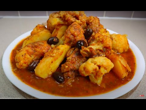 tajine-aux-chou-fleur- -moroccan-stew-with-lamb,-cauliflower&potatoes-طاجين-اللحم-با-القرنبيط-شوفلور