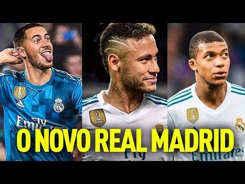 O NOVO TIME DO REAL MADRID! - Neymar, Hazard, Mbappe e Alisson! thumbnail