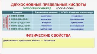99. Органическая химия. Тема 18. Карбоновые кислоты. Часть 11. Двухосновные предельные кислоты